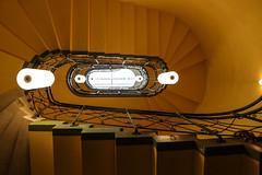 Potsdam Orangerie (Elbmaedchen) Tags: staircase stairs interior treppenhaus escalier spirale oval upstairs potsdam orangerie architektur beauty treppenaufgang yellow gelb stairwell escaleras