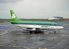 EI-ASA  B737-248  Aer Lingus (n707pm) Tags: eiasa b737 boeing 737 737200 pig airport airline aircraft airplane einn snn coclare ireland 091987 ein ei aerlingus shannonairport slide scanfromaslide rineanna