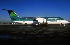 EI-CTN  Bae146-300  Aer Lingus (Commuter) (n707pm) Tags: eictn bae bae146 bae146300 airport airplane aircraft airline ein aerlingus aerlinguscommuter eidw ireland dub collinstown 022002 dublinairport scanfromslide