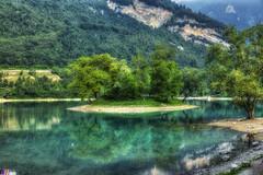 Lago di Tenno (giannipiras555) Tags: lago natura isola verde alberi panorama lanscape collina riflessi acqua paesaggio trentino italia nikon
