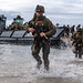 U.S. Marines conduct a simulated amphibious assault of exercise during Talisman Sabre 19