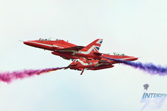 Photo of The Red Arrows Synchro Pair, RAF BAE Hawk T1A, 2019 British Grand Prix display, Silverstone, 14th July