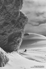 hgs_n8_083002 (Helgi G Sigurdsson) Tags: helgi gardar garðar sigurdsson sigurðsson iceland ísland landscape nature photography icelandic phototour phototours phototoursiniceland photo images impressedbeauty trip north glacier ice snow arctic eyjafjallajokull goðasteinn goða goda godasteinn steinn rock people sky clouds skiing hikers skiiers woman man black white mountain car ford superjeep truck toyota tacoma