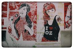 Street Art (michael_hamburg69) Tags: hamburg germany deutschland streetart urbanart stencil wall mittenimwald artist künstler altona girls girl i❤️oz