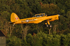 DHC-1 Chipmunk G-BNZC Shuttleworth Collection (Richard.Crockett 64) Tags: dehavilland dhc1 chipmunk trainer gbnzc rcaf royalcanadianairforce shuttleworthcollection eveningairshow oldwarden bedfordshire 2019