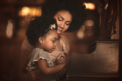 Mother and Daughter ({jessica drossin}) Tags: jessicadrossin portrait family woman child mother kid daughter beauty piano interior wwwjessicadrossincom