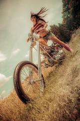 Love Gun Chopper | Easyrider Magazine starring Clare von Stitch (2019) (THE PIXELEYE // Dirk Behlau) Tags: clarevonstitch dirkbehlau pixeleye pinup chopper choppers motorcycle 70s babe tattoomodel easyrider magazine
