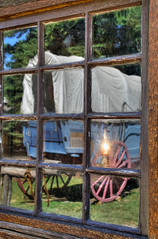 Reflecting on the Past (arbyreed) Tags: arbyreed pioneerday utahholidaypioneerday july241847 mormon mormonpioneer saltlakevalley window reflection coveredwagon vintagewindow windowwednesday hww