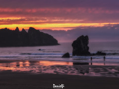 Aguilar sunset (danielfi) Tags: sunset atardecer ocaso puesta sol playa beach seascape paisaje naturaleza asturias aguilar coast costa colores colours