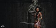 #95 - For Our GoDs!! (Yvain Vayandar) Tags: epic warrior gods secondlife sl roleplay fantasy medieval viking sword shield noblecreations lrweapons fashiowl rochambeau harshlands