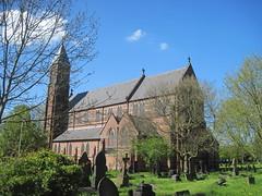Church of St. Cross, Clayton, Manchester (Fortescue38) Tags: manchester clayton stcrosschurch church butterfield claytonhall hoarefamily redbrick tower