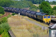 I'm Sick of This (JohnGreyTurner) Tags: br rail uk railway train transport diesel engine locomotive brocklesby lincolnshire lincs freight goods fl freightliner 66 class66 shed coal hoppers