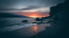SadFall_26 (SadFo_x1) Tags: sky sun clouds sunset light color colors blue red orange water ocean sea aegean beach nature landscape rock remembrance travel summer samos greece
