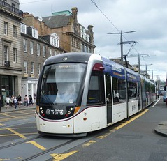 Edinburgh tram 261 at West End of Princes Street, Edinburgh. (calderwoodroy) Tags: scotland edinburgh princesstreet tram tramway westend edinburghtrams edinburghtransport transportforedinburgh caf 261 urbos100
