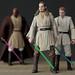 Qui-Gon Jinn, Obi-Wan Kenobi, and Mace Windu