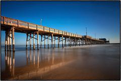 Newport Beach Pier Golden hour. (peterrath) Tags: canon eos 5dsr color pier water sun sky cloud goldenhour beach sand reflection calilif calilife newportbeach orangecounty california landscape seascape