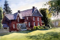 Cornell Campbell House, Plein Air, 2019-07-24 (light and shadow by pen) Tags: watercolor landscape cityscape cornellcampbellhouse toronto art
