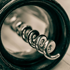 Everryday spiral (risaclics) Tags: 60mmmacro abstractmacro july2019 nikond610 abstract ahso bottleopener corkscrew kitchen metal monochrome ordinaryobjects shiny spiral