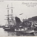SHIP 1913 GOODRICH TRANSIT CO. DOCKS Tugs towing Commodore Perry relief flagship, the USS Brig Niagara rebuilt for the centennial of the Battle of Lake Erie unknown Great Lakes Port