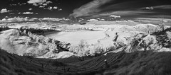 buchan-3029-31-ps-w (pw-pix) Tags: landscape panorama stitchedpanorama fence fences paddocks farm trees graaa pasture river plants valley hills mountains sky clouds bw blackandwhite monochrome sonya7 irconvertedsonya7 850nminfrared ir infrared adaptedlens nikon142428afs nikkor1424mm128ged nikkor142428 nikon142428 buchanriver buchanorbostroad justoutofbuchantownship buchan eastgippsland victoria australia peterwilliams pwpix wwwpwpixstudio pwpixstudio