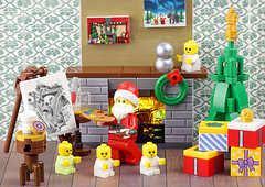 Christmas in July (Frost Bricks) Tags: lego christmas santa claus moc painting