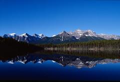 Reflection in Banff (Trevor Sowers) Tags: eos1v canoneos1v ektachromee100 kodak ektachrome ef24lii slidefilm