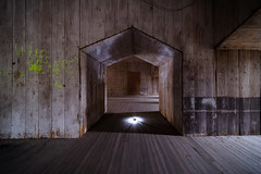 Who Was Here? (Eric Kilby) Tags: boston harborislands georges island fort fortwarren wood arch doorway graffiti