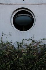 Round Window (Black-Brick) Tags: chile mirador concrete building design architecture plant round shape texture glass reflection contrast museum interactive