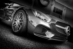 AMG GT (Dave GRR) Tags: mercedes benz amg gt cars coffee toronto auto car show supercar hypercars sportscar racing monochrome mono black chrome olympus