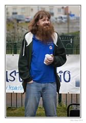 Ginger Jesus (Seven_Wishes) Tags: newcastleupontynenortheast blyth northumberland outdoor photoborder jo 2019 canoneos5dmarkiv canonef70200mmf4lisii blythbattery blythbatterygoestowar thatsaturdayshow gingerjesus koastradio candid portrair ginger redhead beard hippy jeans man newcastleupontyne tyneandwear uk views3k