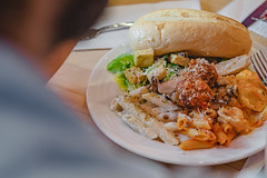 DSCF1132 (BedlamiteArtist) Tags: focus food beer east side mario pasta chicken sliders photoshop photography photoshoot light lightroo lightroom black white dramatic