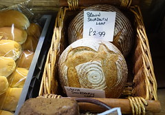 Sourdough Bread at Preston Market (Tony Worrall) Tags: images photos photograff things uk england food foodie grub eat eaten taste tasty cook cooked iatethis foodporn foodpictures picturesoffood dish dishes menu plate plated made ingrediants nice flavour foodophile x yummy make tasted meal nutritional freshtaste foodstuff cuisine nourishment nutriments provisions ration refreshment store sustenance fare foodstuffs meals snacks bites chow cookery diet eatable fodder ilobsterit instagram forsale sell buy cost stock sourdough bread bake lable notice basket round