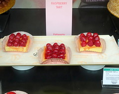Raspberry Tarts on sale in Preston (Tony Worrall) Tags: images photos photograff things uk england food foodie grub eat eaten taste tasty cook cooked iatethis foodporn foodpictures picturesoffood dish dishes menu plate plated made ingrediants nice flavour foodophile x yummy make tasted meal nutritional freshtaste foodstuff cuisine nourishment nutriments provisions ration refreshment store sustenance fare foodstuffs meals snacks bites chow cookery diet eatable fodder ilobsterit instagram forsale sell buy cost stock raspberrytart red fruit fresh window cafe bake sweet