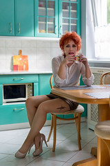 Małgosia (piotr_szymanek) Tags: malgosia malgosiat woman face eyesoncamera redhead studio kichen highheels portrait tatoo coffe 1k 20f 50f 5k 100f 10k 20k