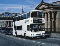 F368WSC Lothian Regional Transport 368 (theroumynante) Tags: f368wsc lothian regional transport 368 leyland olympian alexander the mound edinburgh bus buses road doubledeck stepentrance route100 100 airport link