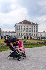 Molly and Jodie (timnutt) Tags: toddler building baby germany city fujifilm royal x100 munchen palace pushchair parent people fuji bavaria residence x100t architecture schloss munich