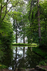 Pagodenburg (timnutt) Tags: molly fun parent plants water germany munich building reflection fujifilm folly garden x100 plant munchen plantlife tree laughter toddler countrypark fuji bavaria park formalgarden x100t city trees