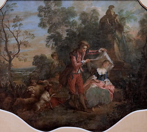 IMG_0111D Nicolas Lancret. 1690-1753 Paris Le Berger indiscret ou la Bergère endormie.  The indiscreet Shepherd or the asleep Shepherdess. Tours Musée des Beaux Arts.