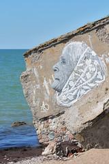Old lady (Konstantin D.) Tags: latvija latvia латвия liepaja лиепая graffitti граффити old lady grandma рисунок бабушка picture painting fort ziemelu forti северные форты