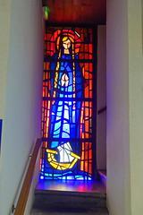 Stained glass @ Eglise Sainte-Geneviève des Bressis @ Cran-Gevrier