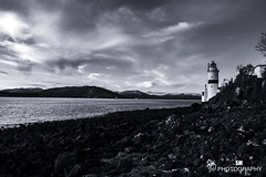 Cloch Lighthouse (Scott McConaghy) Tags: gourock scotland seascape lighthouse monochrome black white winter water rocks waves mountain mountains sea river nikon photography sm sky cloud shape view natural old beach boat light dark dusk