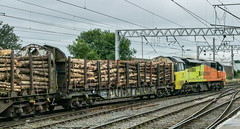 CR 70814, 6J37, Carlisle (Rabbi WP Thinrod) Tags: 70814 station citadel carlisle departmental basford hall crewe yard 6k05 intrepid 68002 37716 direct rail services drs 6j37 1258 colas chirk kronospan