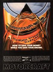 1981 MOTORCRAFT Ford Super Premium 10W-40 Motor Oil USA Original Magazine Advertisement (Darren Marlow) Tags: 1 8 9 19 81 1981 m motorchraft motor o oil e engine c car t tuck tractor 4 w d 4wd 80s