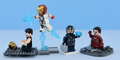 Marvel minifigs #21 : Iron Man in Endgame (Alex THELEGOFAN) Tags: lego legography minifigure minifigures minifig minifigurine minifigs minifigurines movie marvel man iron endgame armor vignette stand avengers super heroes