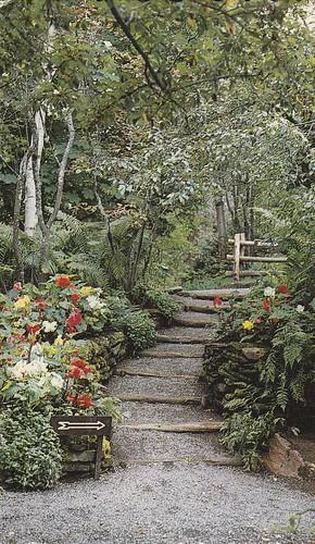 Escalier du Jardin des rocailles, Jardins de Métis, Québec ...