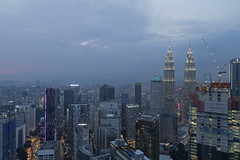 KL After Sunset (Ali Sabbagh) Tags: kualalampur malaysia night landscape cityscaoe towers skyscrapers petronastowers sky lights canon eosr city architecture view travel world canoneosr