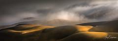 Fighting the sun (Jerzy Orzechowski) Tags: shadows dunes sand landscape namibia abstract fog sunrise orange sandwichharbour