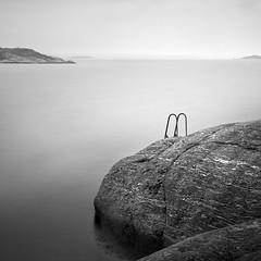 Elements of a Rocky Coast (Bernd Walz) Tags: sea seascape rocks silence calmness minimalistic minimalism blackandwhite bnw bw monochrome fineart square longexposure