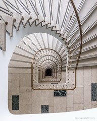 Another classy staircase (bjoernahrensfotografie) Tags: munich münchen lookup lookdown minimal abstract spiral stairs staircase treppe treppenhaus escalier canon canoneosr