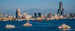 2019 - Taiwan - Kaohsiung - 30 - Water Taxis (Ted's photos - For Me & You) Tags: 2019 cropped kaohsiung nikon nikond750 nikonfx taiwan tedmcgrath tedsphotos vignetting ferry boat boats gushan